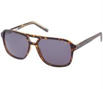 Sonnenbrille Braunes Tiermuster