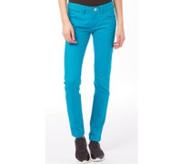 Womens Colour Skinny Jeans Lab Green