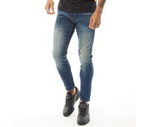 Tranfold Jeans in Slim Passform Verblasstes Dunkel