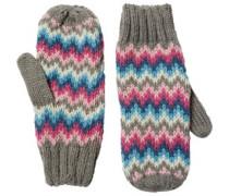 Onfire Damen Jacquard Mittens Handschuhe Mehrfarbig