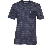 Original Penguin Herren Printed D- T-Shirt Navy