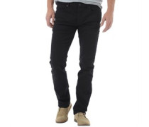 Herren James Regular Solid Stretch Jeans in Slim Passform Schwarz