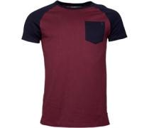 Raglan T-Shirt Dunkelburgunder