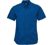 Baumwolle/Leinen Hemd mit kurzem Arm grün