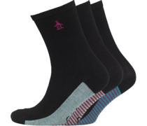 Damen 3 Packung Socken Schwarz
