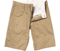 Herren Johnson Bermuda Safari Chino Shorts Braun