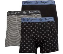 Herren Three Pack Boxershorts in lose Passform Schwarz