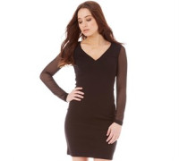 French Connection Damen Liv Kleid Schwarz