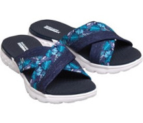 On The GO 400 Tropical Cross Band Slide Sandalen Navy