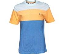 Herren Colour Block T-Shirt Blau