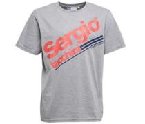 Sergio Tacchini Herren Hobart Script Logo T-Shirt Grau