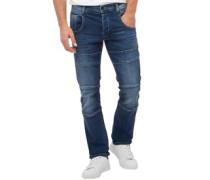 Herren Friars Utility Jeans in Slim Passform Blau
