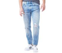 Herren Customized Tapered Fit Jeans mit zulaufendem Bein Verblasstes Blau