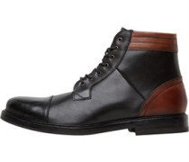 Ted Baker Mens Musken Toe Cap Leather Boots Black