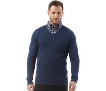 Herren Classic Pullover mit V-Ausschnitt Navy