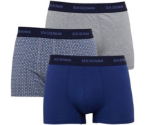 Herren Norris Boxershorts Blue/Blue/Grey