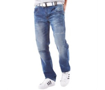Herren Baltman wash Jeans in regulär Passform Blau