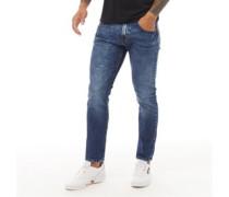 Moriarty Jeans in Slim Passform Verblasstes Mittel