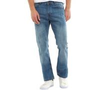 Herren Basicon Jeans mit geradem Bein Hellblau