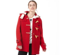 Gloverall Womens Mid Monty Coat Red