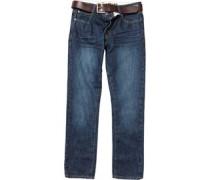 Firetrap Herren Gambit Vintage Jeans mit geradem Bein Blau