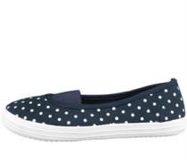 Damen Polka Dot Freizeit Schuhe Navy
