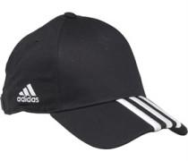 Herren 3 Stripe Mütze Schwarz