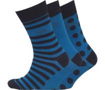 Herren FCUK Drei Pack Dot Socken Blautöne