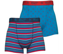 Herren Boxershorts Diva Blue/Denim Blue/Chinese Red