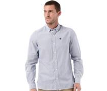 Herren Longpoint Striped Hemd mit langem Arm Blau
