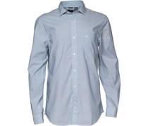 Dockers Herren Refined Poplin Hemd mit langem Arm Blau