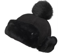 UGG Australia Womens Pom Heritage Up Flap Hat Black