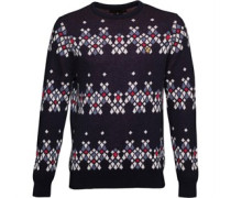 Lyle And Scott Vintage Mens Garland Christmas Jumper New Navy
