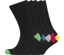 Herren 5 Packung Socken Schwarz