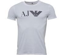 Armani Jeans Mens Crew Neck Logo T-Shirt White