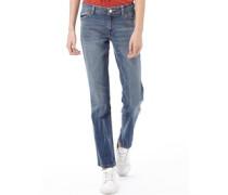 Damen Jeans in Slim Passform Verblasstes Blau