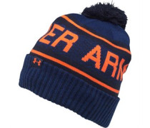 Mens Coldgear Retro Bobble Hat Navy