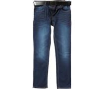 Herren Bolt Jeans mit geradem Bein Dunkelblau