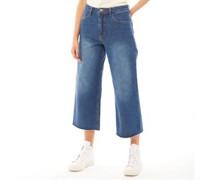 Melody Wide Leg Raw Hem Wide-Leg Jeans