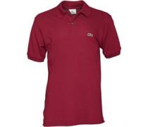 Lacoste Herren L1212 Original Bordeaux Polohemd Rot