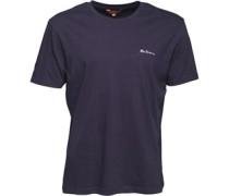 Herren Gestickt T-Shirt Navy