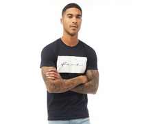 FCUK Box Scribbles T-Shirt Navy