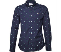 Farah Vintage Herren Selsdon Hemd mit langem Arm Blau