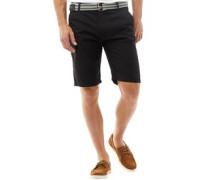Herren Baumwolle Shorts Schwarz