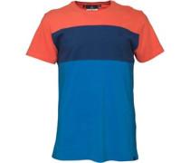 Duck and Cover Herren Docker Coral T-Shirt Mehrfarbig