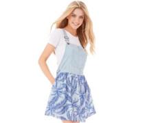 Superdry Damen Vintage Dungaree Kleid Blau