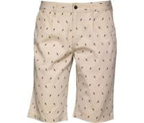 Bellfield Herren Printed Chino Shorts Ecru