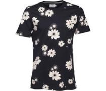 Herren Ragworth Floral T-Shirt Navy