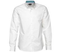 Herren Rees Hemd mit langem Arm Weiß
