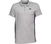 Herren Essentials 3 Stripe ClimaLite Polohemd Grau